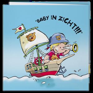 Grappig geboortekaartje met piraat