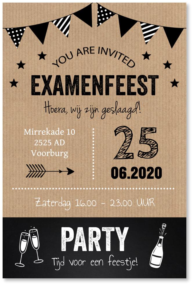 Uitnodiging examen typografie