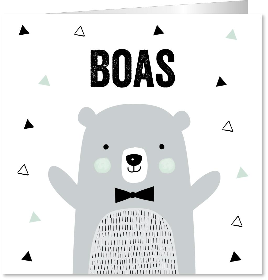 Geboortekaartje ijsbeer jongen