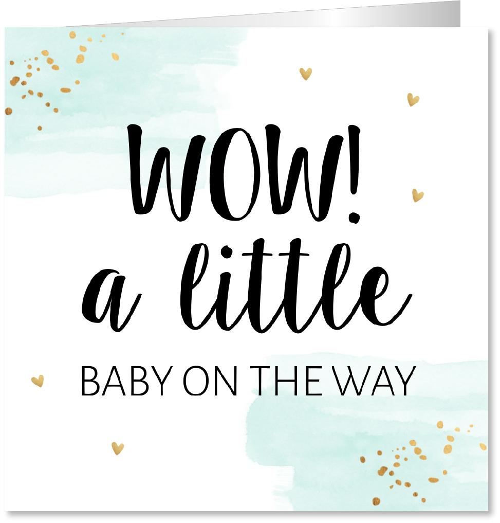 Felicitatie zwanger typografie