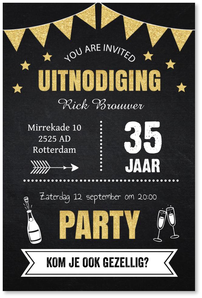 Verjaardag typografie
