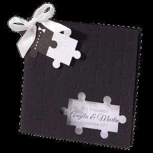 Origineel trouwkaartje met puzzelstukjes I Belarto 725073