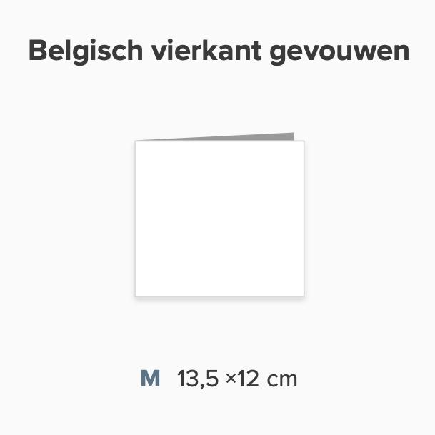 Zelf maken Belgisch formaat 12 x 13,5 cm