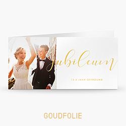 Goudfolie uitnodiging 12,5 jaar getrouwd met persoonlijke foto