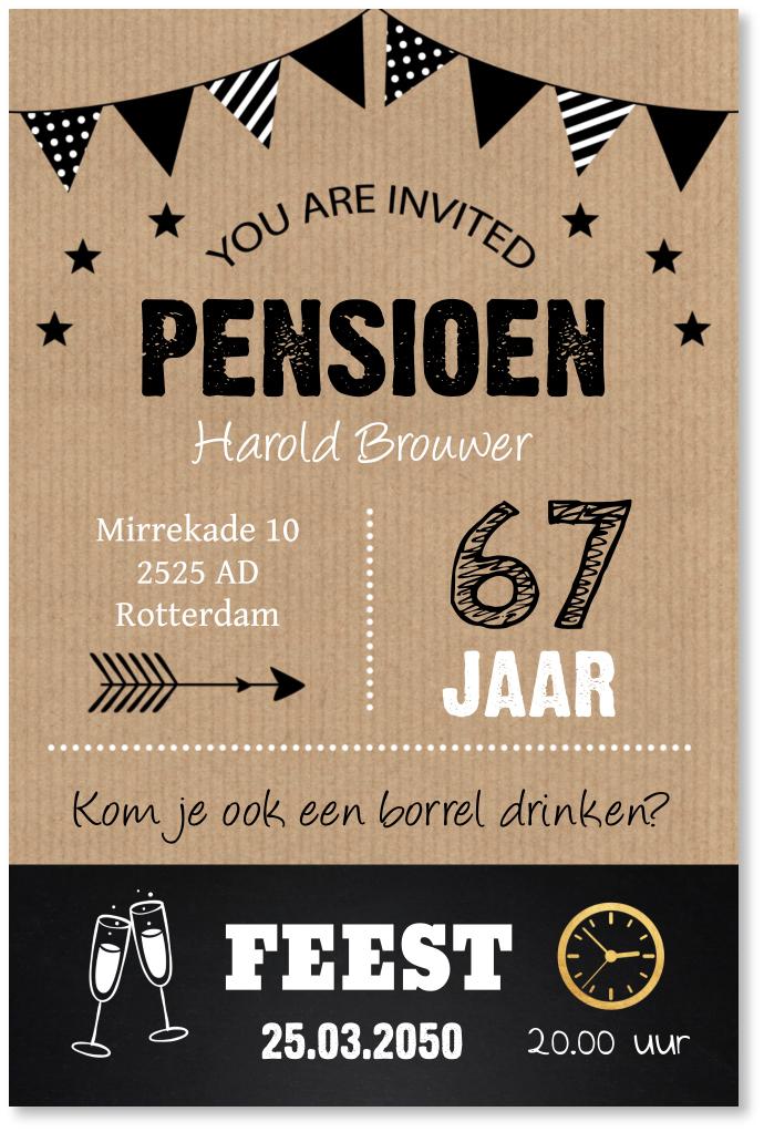 Pensioenkaart typografie kraft