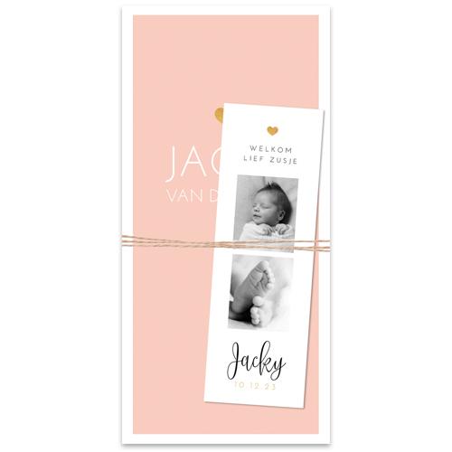 Basic meisjeskaartje met écht label