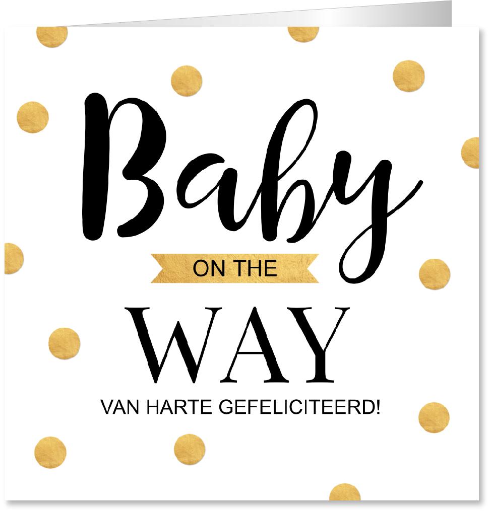 Felicitatie zwangerschap confetti