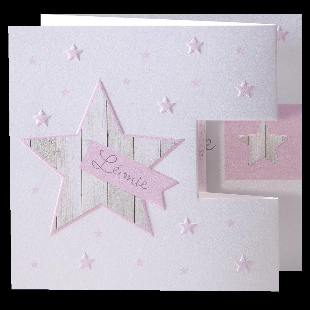 Stoere geboortekaart met sterren I 715036