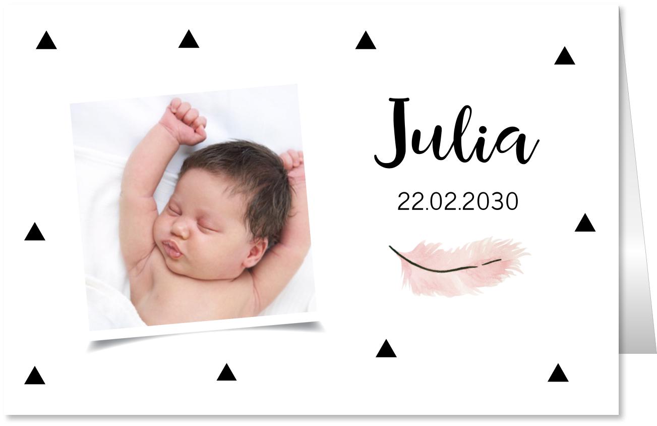 Geboortekaartje foto veer