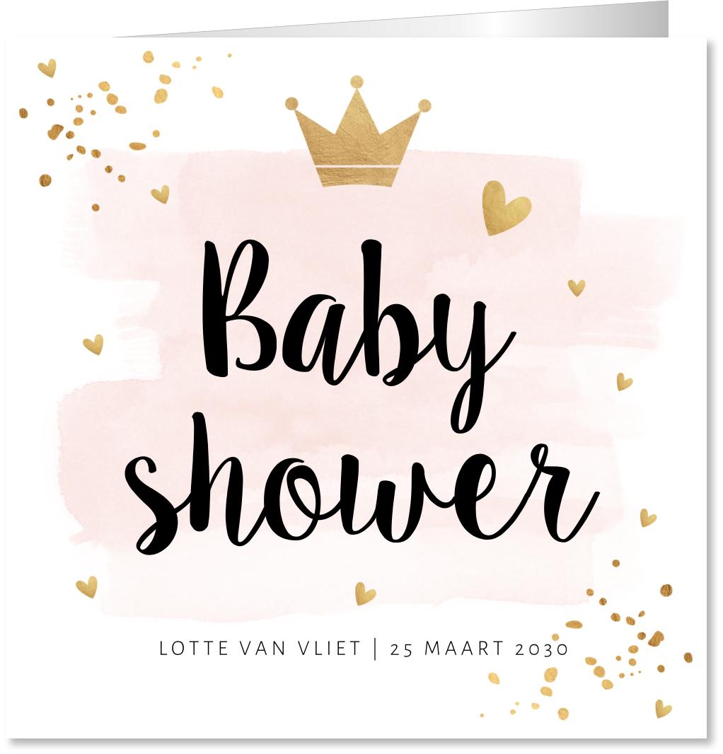Babyshowerkaart waterverf confetti
