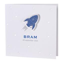 Geboortekaartje met racket en sterren in zilverfolie I Buromac 589059