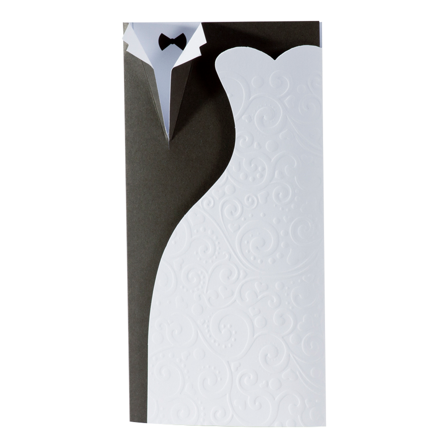 Originele trouwkaart van Buromac met bruiloftskleding I 104062