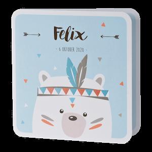 Vrolijke babykaart met ijsbeer I 507075
