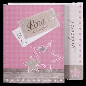 Trendy geboortekaart met sterren en hout I Belarto 715911