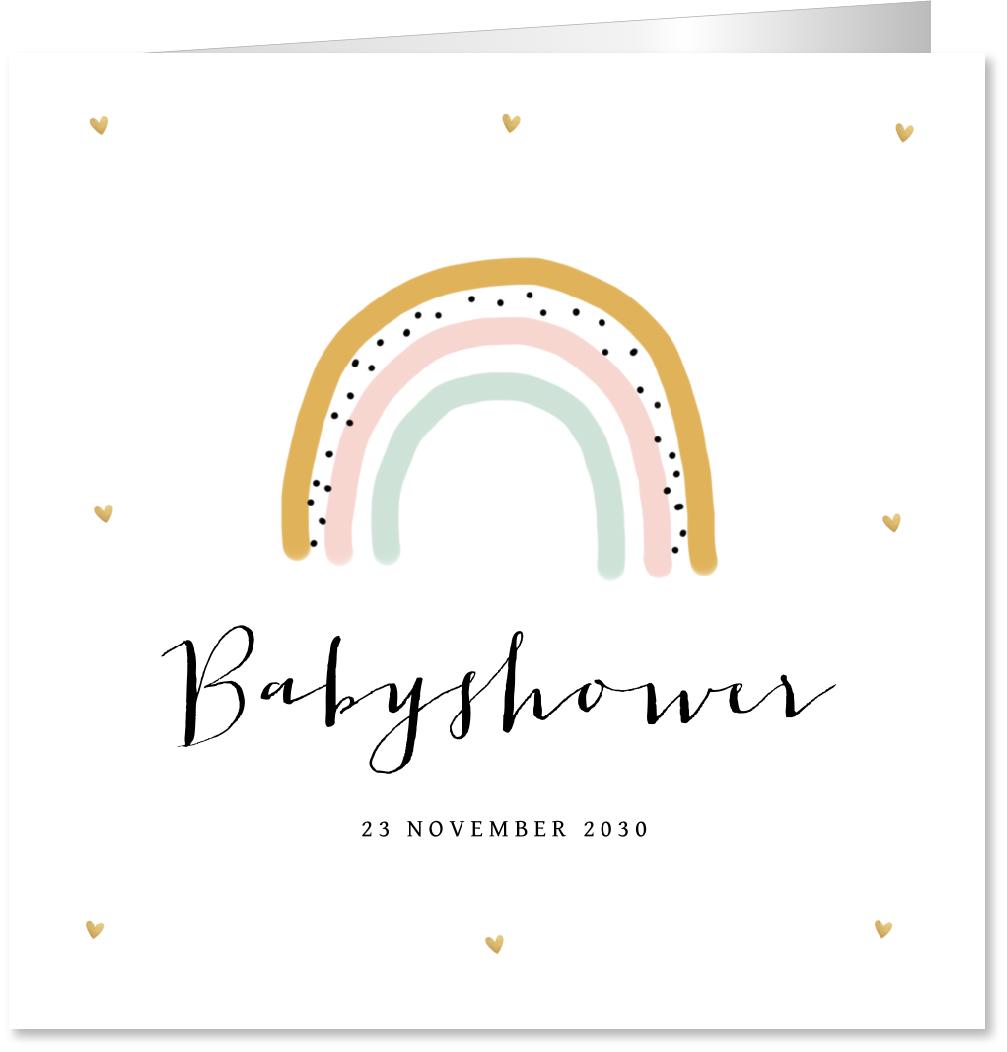 Babyshowerkaart regenboog