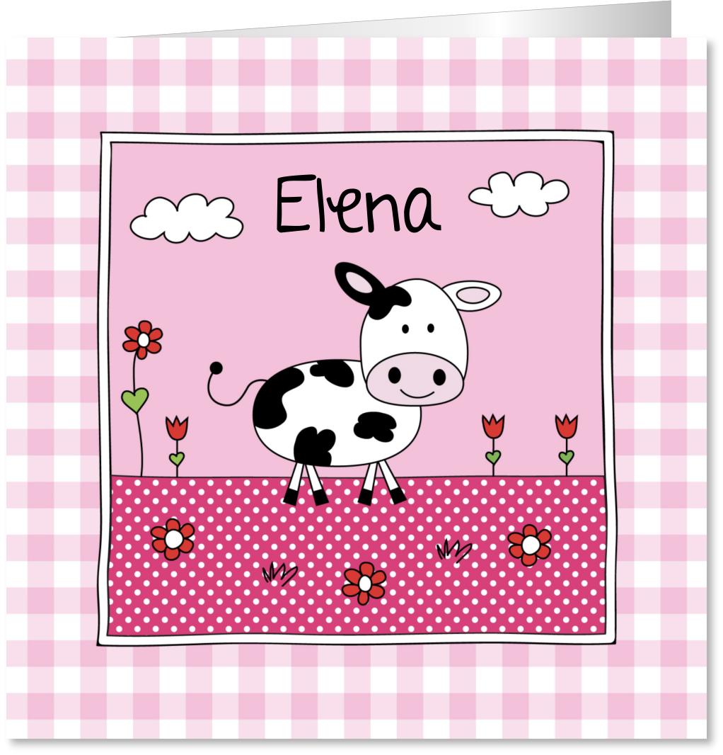 Geboortekaartje meisje koe