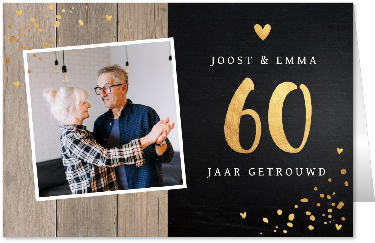 Jubileumkaart 60 jaar getrouwd