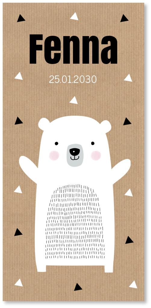 Geboortekaartje ijsbeer kraft