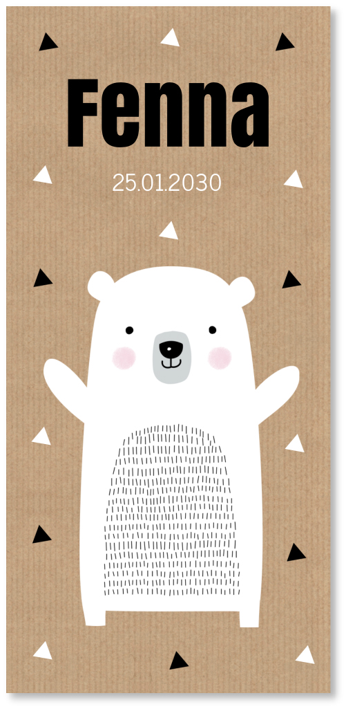 Geboortekaartje enkel ijsbeer