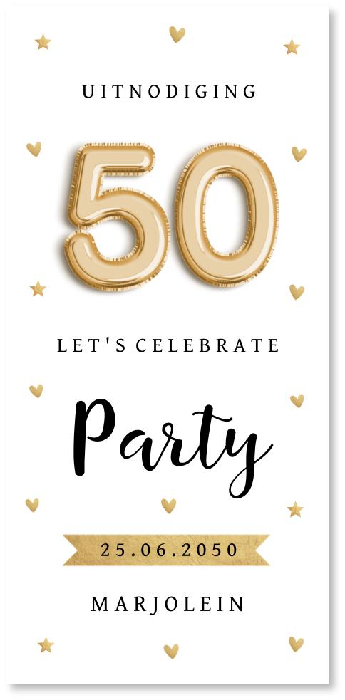Verjaardag 50 jaar ballon