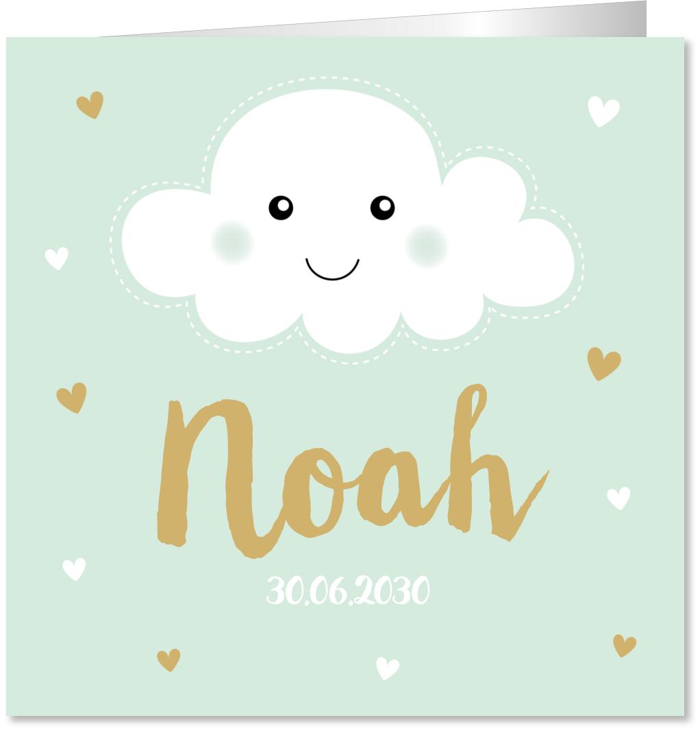 Geboortekaartje wolkje