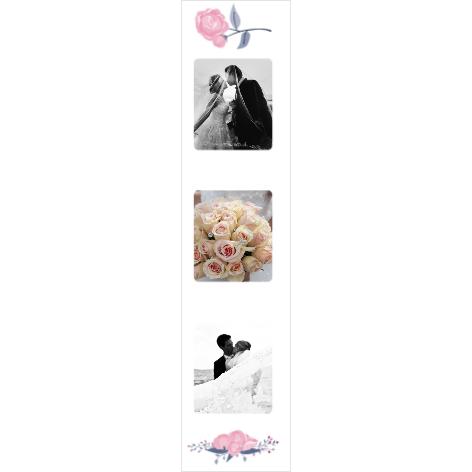 Fotostrips trouwhuisstijl pink peonies