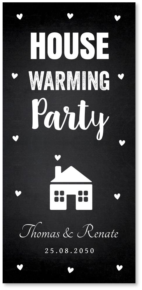 Housewarming typografie krijtbord